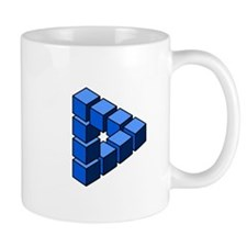 Impossible construction triangle of blocks Mugs