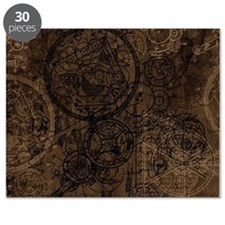 Clockwork Collage Brown Puzzle