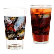 Curious Koi Drinking Glass