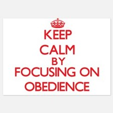 Keep Calm by focusing on Obedience Invitations