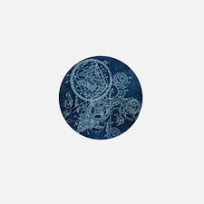 Clockwork Collage Blue Mini Button