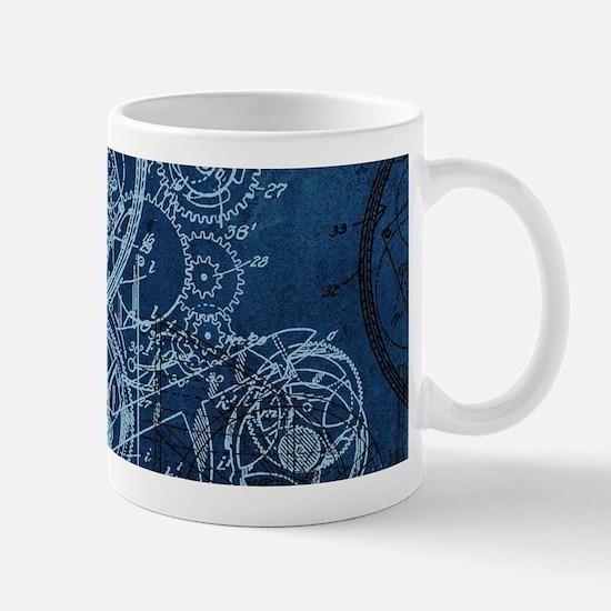 Clockwork Collage Blue Mug