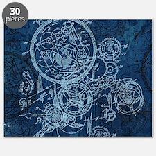 Clockwork Collage Blue Puzzle