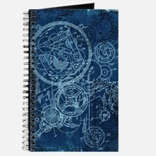 Clockwork Collage Blue Journal