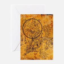 Clockwork Collage Greeting Card