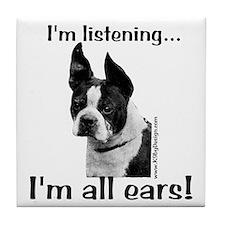 Boston All Ears Tile Coaster