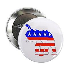 "Republican GOP Logo Elephant 2.25"" Button (10 pack"