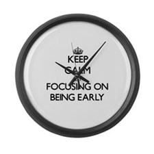 Keep Calm by focusing on BEING EA Large Wall Clock