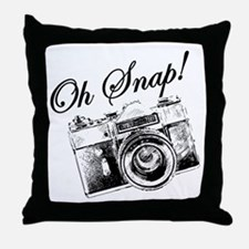 OH SNAP CAMERA Throw Pillow