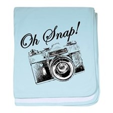 OH SNAP CAMERA baby blanket