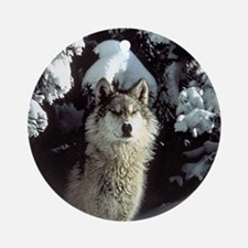 Winter Wolf Ornament (Round)