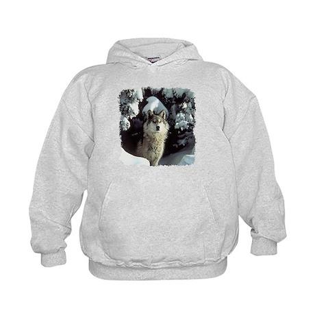 Winter Wolf Kids Hoodie