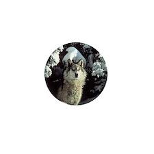 Winter Wolf Mini Button (10 pack)