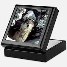 Winter Wolf Keepsake Box