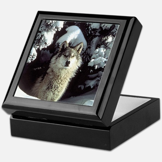 Winter Wolf Keepsake Box
