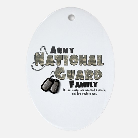 National Guard Family Oval Ornament