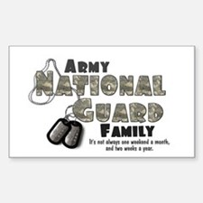 National Guard Family Rectangle Decal