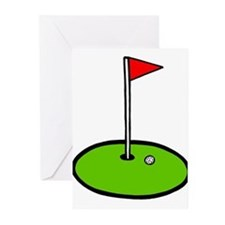 Golf drawing Greeting Cards