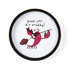 Im Crabby Wall Clock