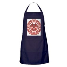 red double happiness  Apron (dark)