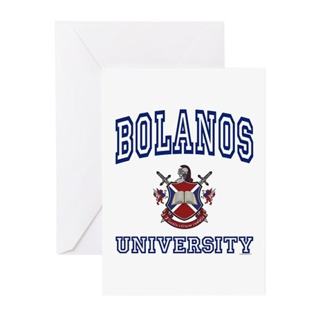 BOLANOS University Greeting Cards (Pk of 10)