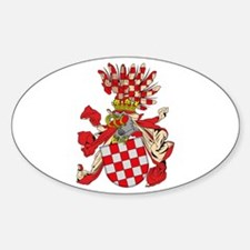 Old Croatian Coat of Arms Oval Decal