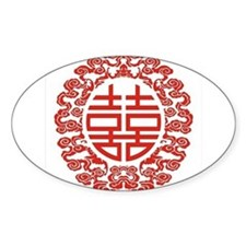 red double happiness Decal