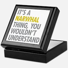 Its A Narwhal Thing Keepsake Box