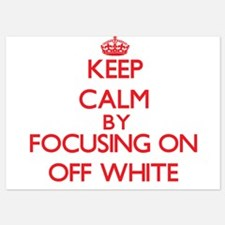 Keep Calm by focusing on Off-White Invitations