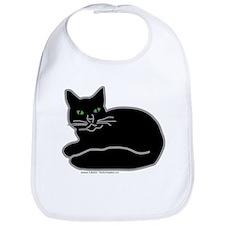 Black Kitty Bib