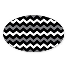 Black Gray And White Chevron Decal