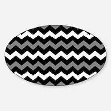 Black Gray And White Chevron Decal