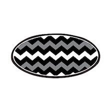 Black Gray And White Chevron Patches