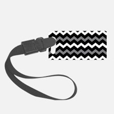 Black Gray And White Chevron Luggage Tag