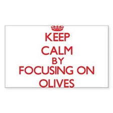 Keep Calm by focusing on Olives Decal