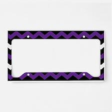 Black Purple And White Chevron License Plate Holde
