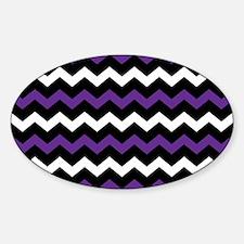 Black Purple And White Chevron Decal