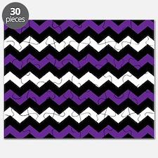 Black Purple And White Chevron Puzzle