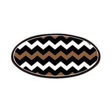 Black Brown And White Chevron Patches
