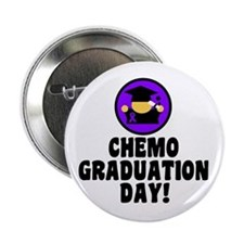 """Chemo Graduation Day 2.25"""" Button (10 pack)"""