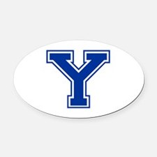 Y-var blue2 Oval Car Magnet