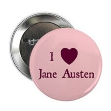 """I HEART Jane Austen"" Button"