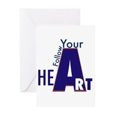 Follow Your Art Card Greeting Cards