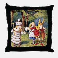 ALICE & THE WHITE KING Throw Pillow