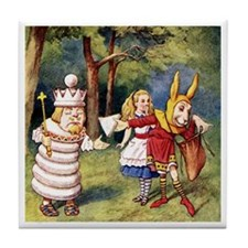 ALICE & THE WHITE KING Tile Coaster
