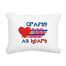 Crafty At Heart Rectangular Canvas Pillow