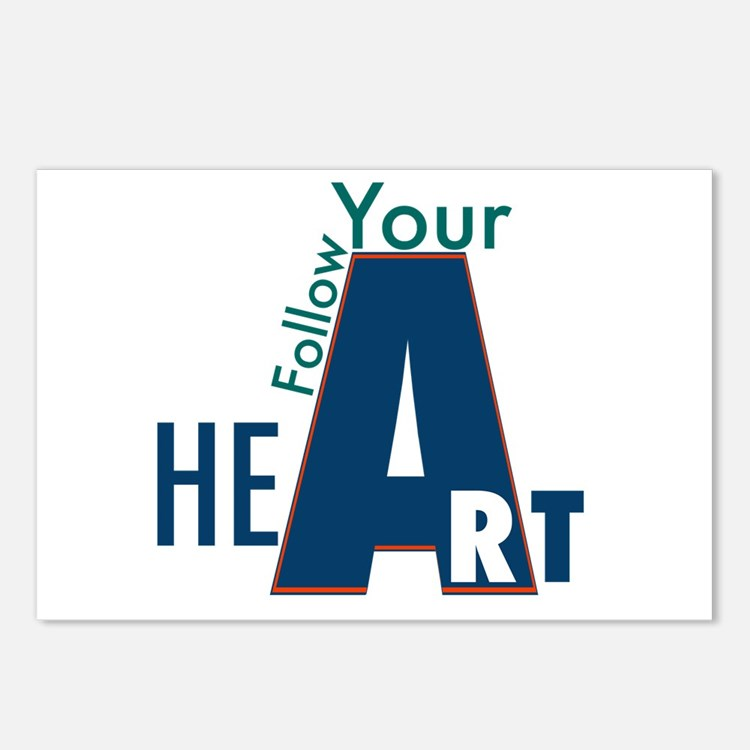 Follow Your Art Postcards (package Of 8)