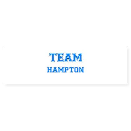 TEAM HAMPTON Bumper Sticker