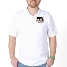 I Love Horses & Girl w/ Color T-Shirt