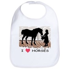 I Love Horses & Girl w/ Color Bib